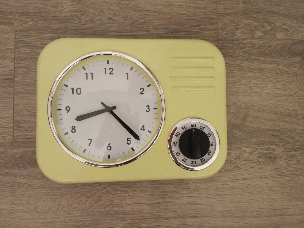 Retro Kitchen Wall Clocks Retro Kitchen Wall Clock With Timer In Manchester City Centre