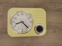 Retro Kitchen wall clock with timer