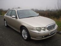 2002 ROVER 75 CLUB CDT SE DIESEL SALOON WITH SERVICE HISTORY AND PREVIOUS MOT'S