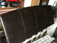 Leather king size headboard