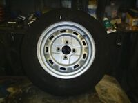 13 inch wheel for trailer or caravan with new 155/80/13 tyre