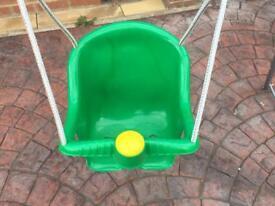 Toddler swing.