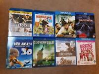 8 bluray discs in as new condition