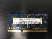 Many sticks of 2GB PC3 10600 204 pin laptop/pc RAM