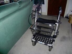 walking aid with basket and seat