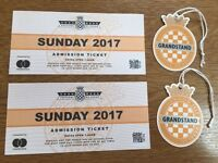 Goodwood Festival of Speed:Entry+Grandstand-Sunday 2 July 2017, two tickets. Admission from 7.00am.