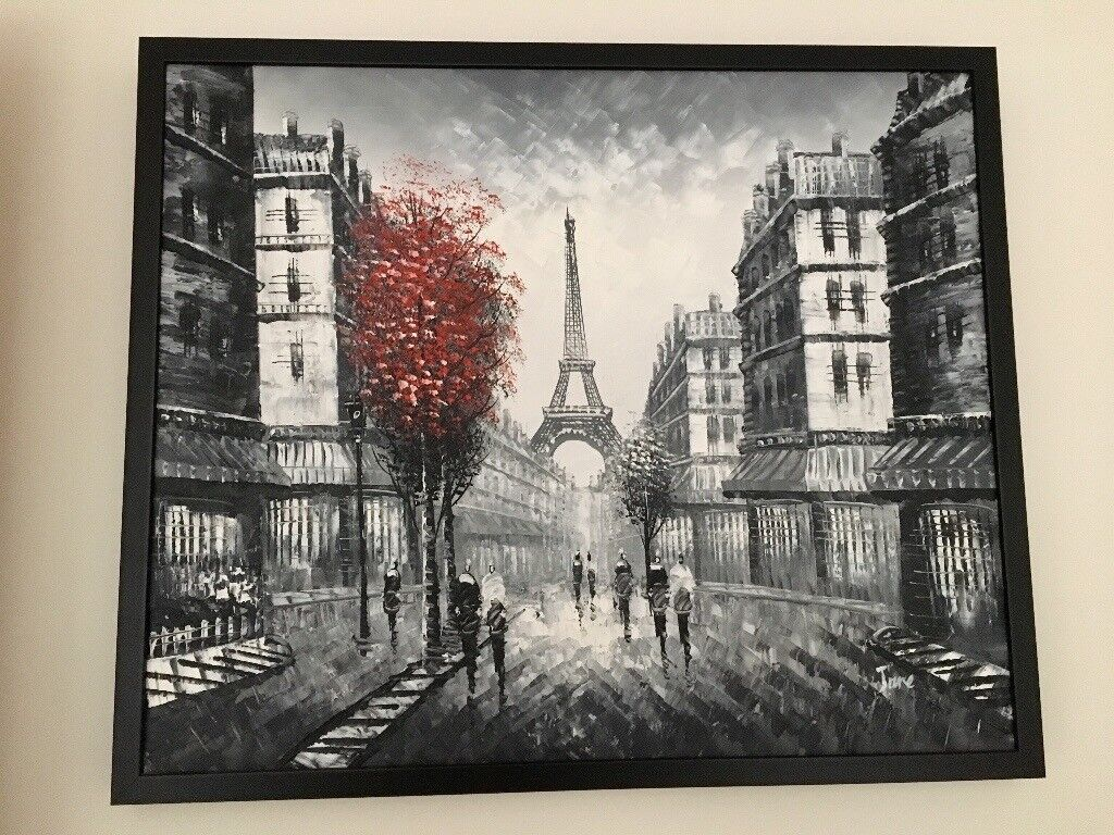 Framed Paris Painting