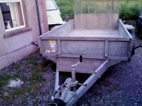 Ifor Williams 10 x 5 ft9 Plant Trailer, lights/brakes working, V.Good condition