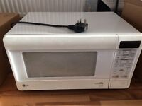 LG microwave oven - white