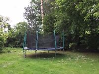 14ft trampoline - with new net