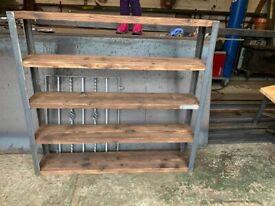Industrial Style Reclaimed Scaffold Board Shelves