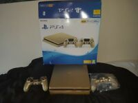 Ps4 slim gold exstremely rare