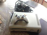 Xbox 360 with leads and controller