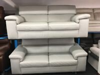 NEW/EX DISPLAY John Lewis LIBERATOR GREY LEATHER 3 + 2 SEATER SOFAS, SUITE, SETTES 70% Off RRP