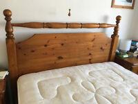 Vintage Pine Double Bed Frame