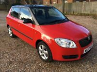 SKODA FABIA LEVEL 2. 1.4 TDi 5 DOOR HATCHBACK 5 SPEED MANUAL RED AND BLACK EDITION