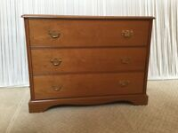 Stag 3-Drawer Chest in Light Cherry. Good overall Condition.