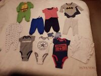 baby boys clothes all new size 0-3months including 3 converse vests