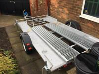 Single axle car transporter trailer