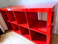 Ikea Kallax Red Bookshelf