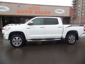 2015 Toyota Tundra Platinum, LEATHER, BACKUP CAM, SUNROOF, LOW K