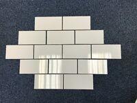 200 X 100m Flat White Gloss Tiles