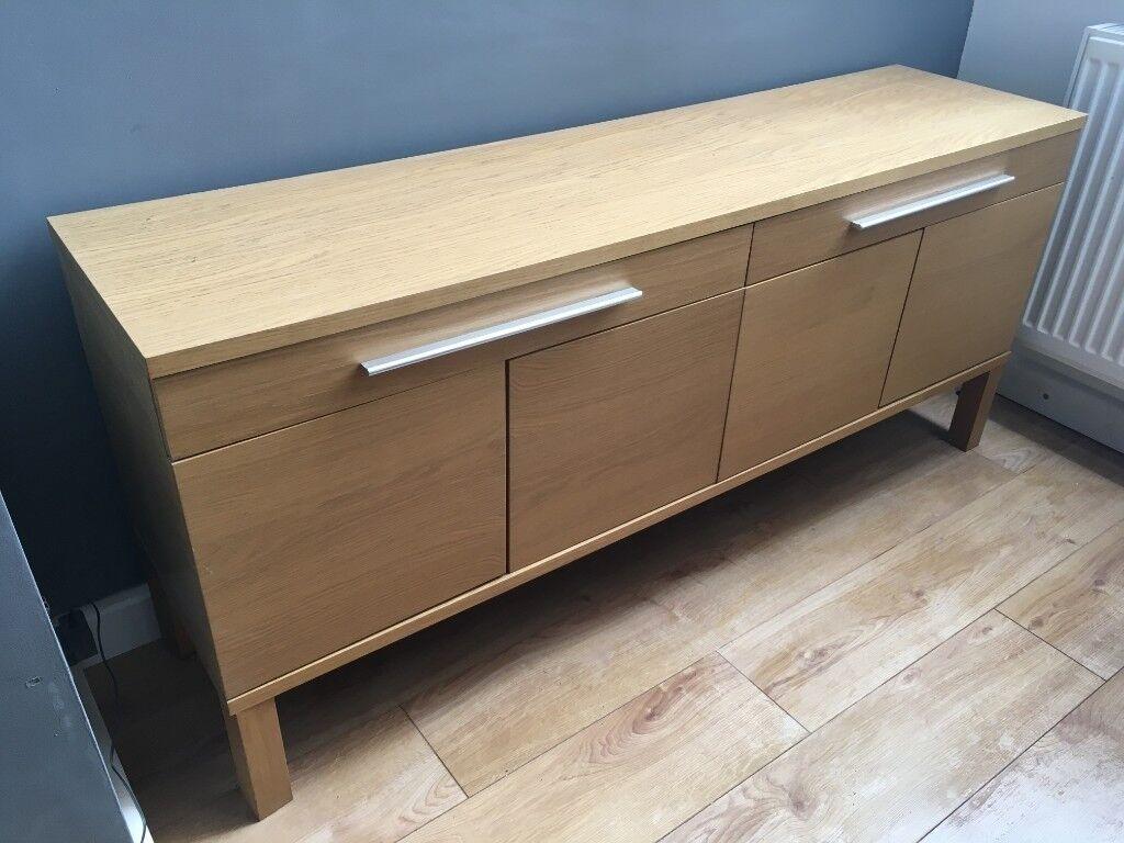 Ikea Oak Effect TV Bench Or Dining Room Cabinet