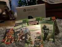 Xbox 360, with Kinect and small selection of games