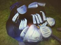 Full set of golf bags including bag