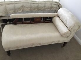 Edwardian chaise lounges cream