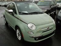 2012 Fiat 500 CONVERTIBLE Lounge-cuir-sieges