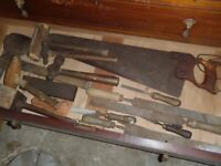 Job lot of vintage hand tools
