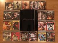 PS3 80GB bundle | PS1 compatible + 20 games incl. GTA V | Great cond.