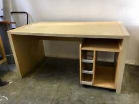 Large birch Ikea computer desk station