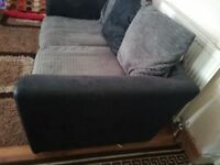 GREY AND BLACK 3+2 SEATER SOFAS - MUST GO ASAP - CHEAP DELIVERY - £200