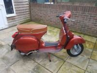 For sale a full nut and bolt including frame restoration on a 125 Vespa DouglasE