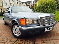 *CLASSIC COLLETORS ITEM*1988 MERCEDES 300 SE AUTOMATIC-12 MERCEDES SERVICE STAMPS FULL LEATHER*