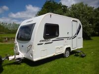 2013 BAILEY ORION 400/2 TOURING CARAVAN 2 BERTH WITH END WASHROOM, still under warranty until 2019
