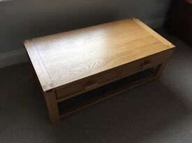 Coffee table solid wood John Lewis £350 excellent con.