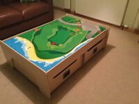 GLTC Play-table plus 2 large storage drawers - Immaculate!