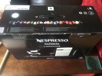 Nespresso Inissia Coffee Machine & Aereccino3 (milk frother)