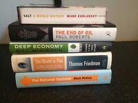 ECONOMICS WORLD BOOK LOT SALT END OF OIL DEEP ECONOMY WORLD IS FLAT ENVIRONMENT