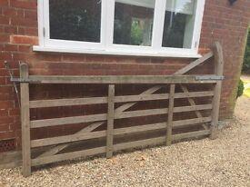 Farm wooden gate,