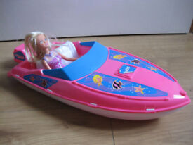 BARBIE OCEAN FRIENDS PINK SPEEDBOAT £30+ ebay - BARGAIN PRICE Fab Condition REDUCED AGAIN +2 DOLLS!