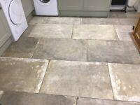 Beautiful Mandarin Stone large porcelain floor tiles