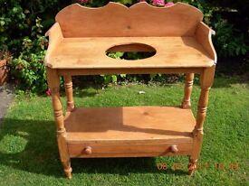 Victorian Pine washstand
