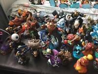 Collection of 60+ skylanders and 2 portals