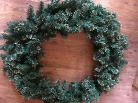 Christmas wreath for commercial or large residence