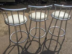Bar/breakfast stools x3