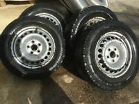 VW T5 STEEL WHEELS, WINTER TYRES, CENTER